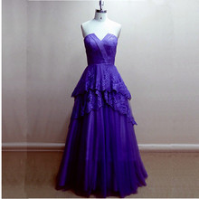 Floor Length Royal Blue Prom font b Dress b font Featured Lace Strapless Long font b