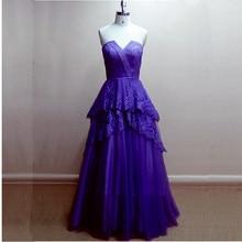 Bodenlangen Royal Blue Abendkleid Sonder Spitze Trägerloses Langes Abendkleid Frauen Formale Kleid Kundenspezifische Größe