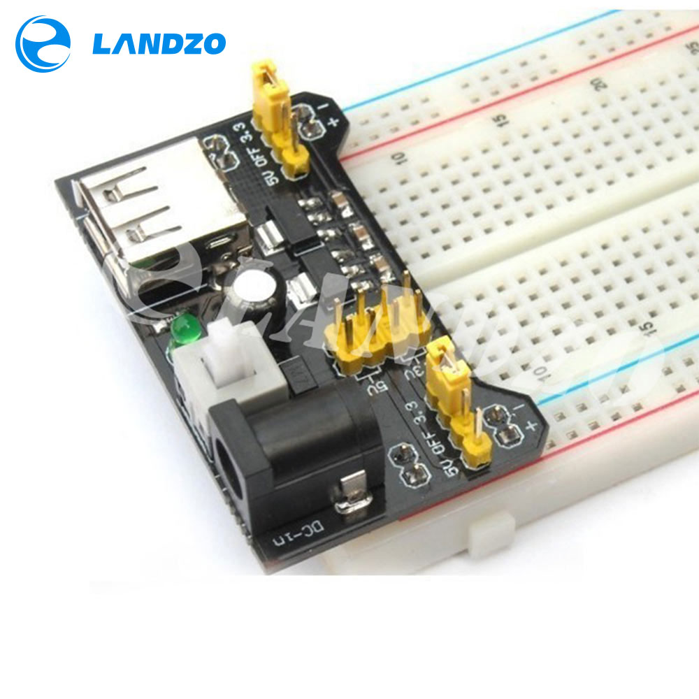 Mb102 Breadboard Power Module Mb 102 830 Points Solderless Prototype Circuit Detail Bread Board Kit 65 Flexible Jumper Wires In Integrated Circuits From Electronic