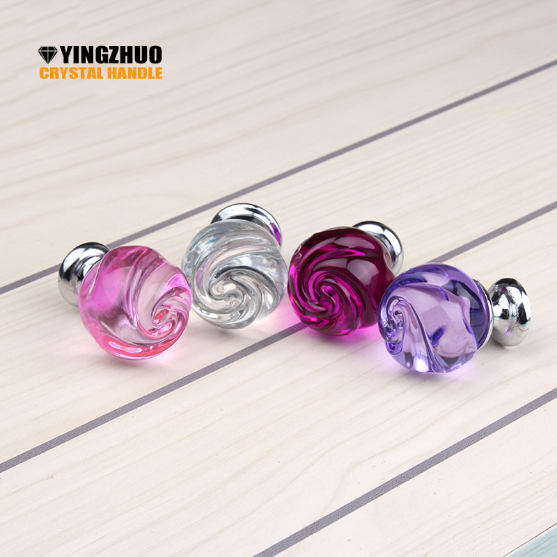 Puxadores Cabinet Knobs And Handles 30mm K9 Crystal Knobs Modern Home Decoration Accessories, Kitchen Cabinet Hardware Handle