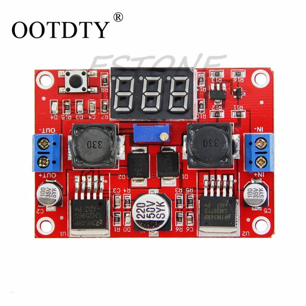 OOTDTY DC-DC Digital Display Step Down Step Up Boost Board Buck Converter Power Module