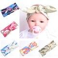 Chic Moda Camouflag Impressão Algodão Headband Para A Criança Infantil Do Bebê Amarrado Arco Faixa do Cabelo Da Orelha de Coelho Macio Headwraps