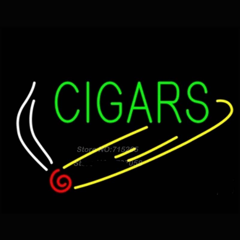 Green cigars neon sign sign neon bulbs for Room decor neon signs