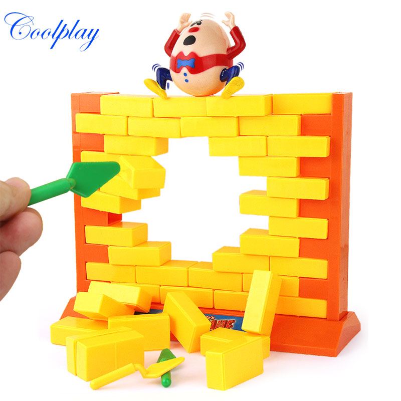 Humpty Dumpty Funny Game Children Toy Wall Colorful Demolishing Wall Game Interesting Kids Toy Educational Toys Building Blocks