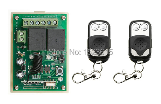 Radio Remote Control Switch DC12v Mini Receiver 2* Metal Push Button Transmitter Learning Code 315/433 Momentary Toggle Latched remote switch 12v dc rf wireless 4 receiver 3 transmitter lighting digital switch learning code toggle momentary 315 433 92mhz