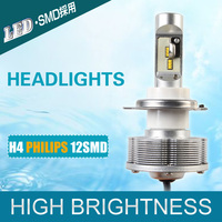 Newest H4 LED Headlights High Quality Automobiles Convision Kit Cars Bulbs 12SMD Wholesale High Power 42W