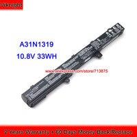 Genuine A31N1319 Battery For Asus X551MAV Battery X451CA X551CA F551MAV D550MA Laptop 10.8V 33Wh