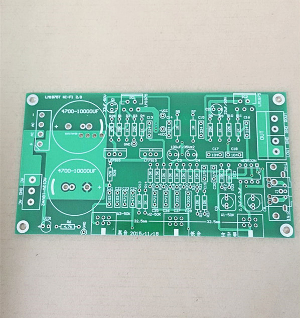 Fannyda LM1875T khuếch đại công suất phía trước và phía sau tích hợp hội đồng quản trị mà không có tiếng ồn cổ điển PCB board trống