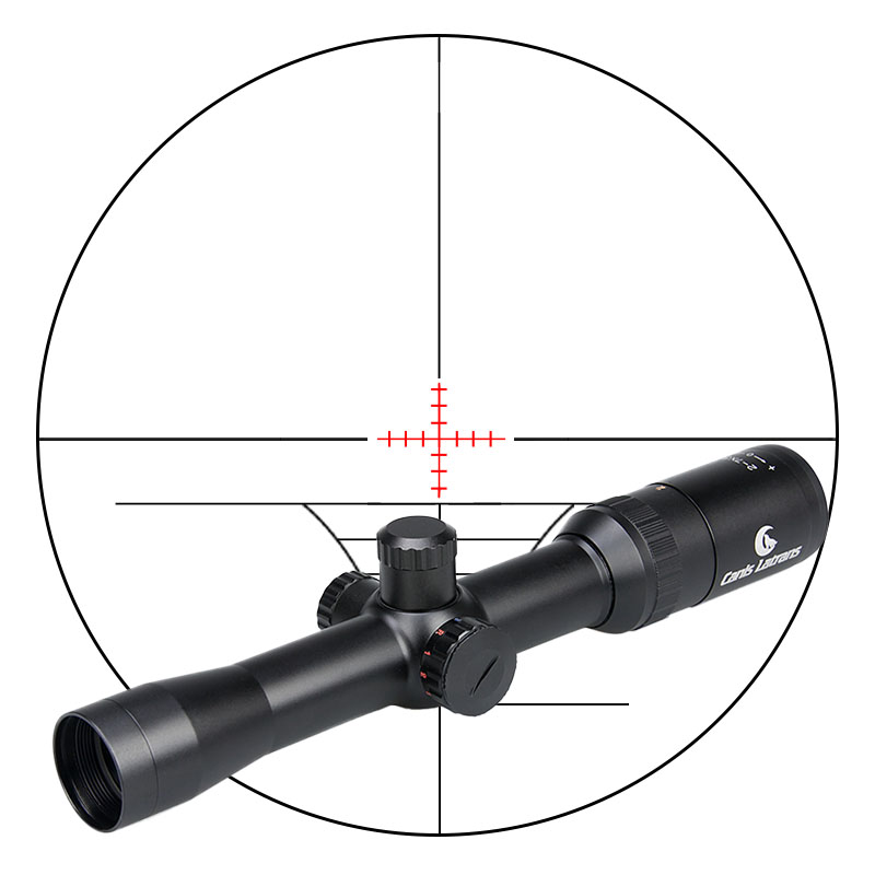 Rifle-Scope Red Dot Canis Latrans Laser Sight Hunting 2-7x32ir For Outdoor 1-0052