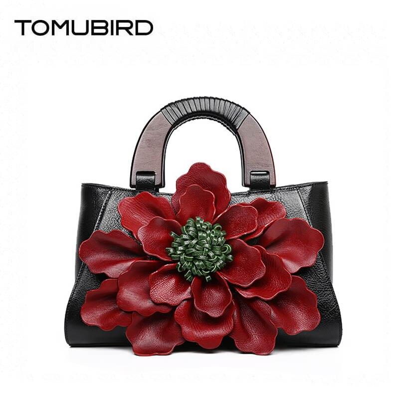TOMUBIRD 2018 новый улучшенный теплые модные цветочные женские Натуральная кожа Сумка дизайнер Топ Теплые роскошные сумки кожаный арт сумка