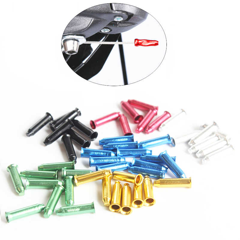 100 Pack Bike Cable End Caps Mountain Shifter Ends Crimps Tips Ferrules