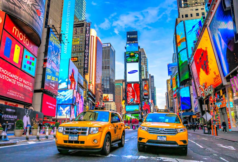 Times square business center shopping mall photography backdrop photo background quality vinyl - Times square background ...