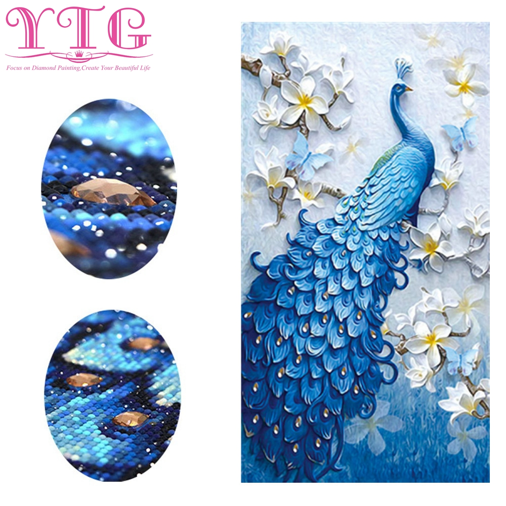 Special,Shaped,Diamond Embroidery,Peacock,Animal,Diamond Painting,Flower,Full,Rhinestone,Diamond Mosaic,Cross Stitch,Decor,YTG