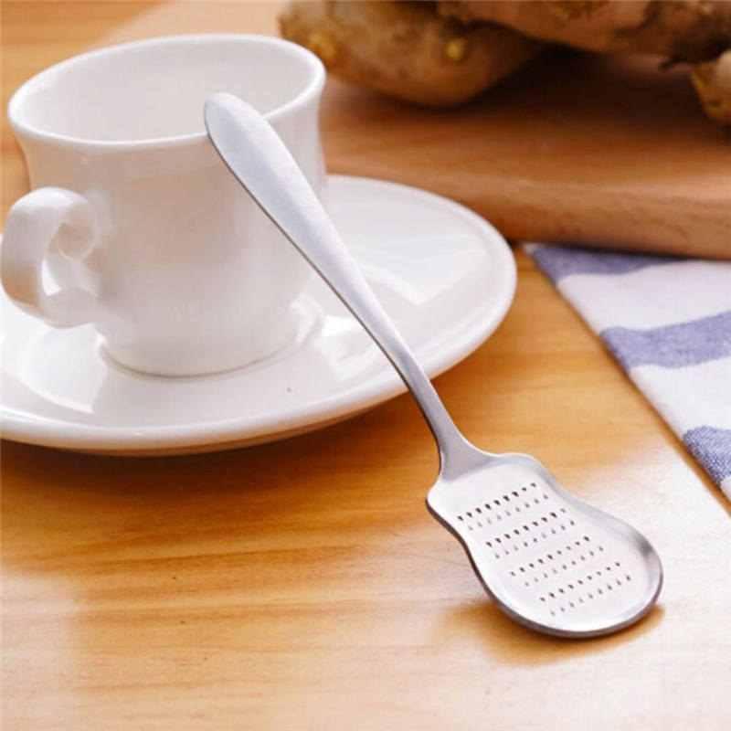 最新のキッチンおろし金ステンレス鋼グラインダーニンニク研削スプーン手動工具野菜ジューサーフードプロセッサー