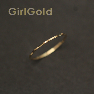 Image 4 - 14k Solid Gold Ring,thin Ring, Stacking Ring, Dainty Gold Ring, Minimalist, Mid century Bff Bride