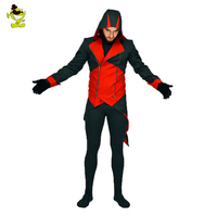 Men's halloween dead pool costume cosplay game horror devil dress for adults man halloween party role play devil costumes