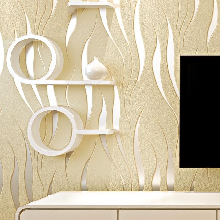 moda papel pintado moderno d flocado decoracin de paredes atractivo en relieve flotador hierba dormitorio sala de pared decoracin mural en fondos de