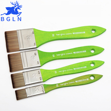 4Pcs/Set Korean Nylon Hair Flat Head Scrubbing Painting Brushes Oil Acrylic Paint Brush Art Supplies Student Stationery