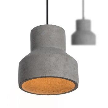 BDBQBL Vintage Pendant Lights Cement Originality Pendant Lamp 90V-240V Industry American Style Cord Droplight Coffee Pendant