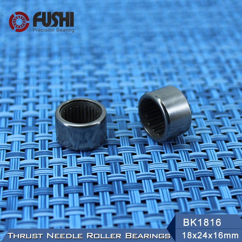 BK1816 Needle Bearings 18*24*16 mm ( 1 Pc ) Drawn Cup Needle Roller Bearing  BK182416 Caged Closed ONE End 55941/18 hk303816 drawn cup needle roller bearings 7941 30 the size of 30 38 16mm