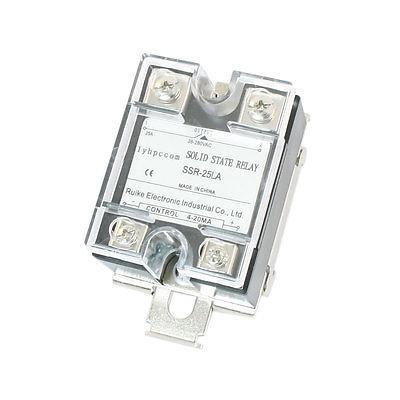 4-20mA to AC 28-280V 25A One Phase 35mm DIN Rail Socket Solid State Relay normally open single phase solid state relay ssr mgr 1 d48120 120a control dc ac 24 480v
