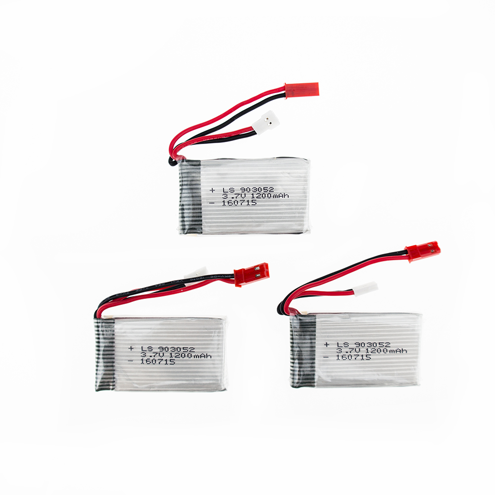 3pcs 3.7V 1200mAh 25C Drone Rechargeable Lipo Battery 903052 For RC SYMA X5SW X5 M18 H5P