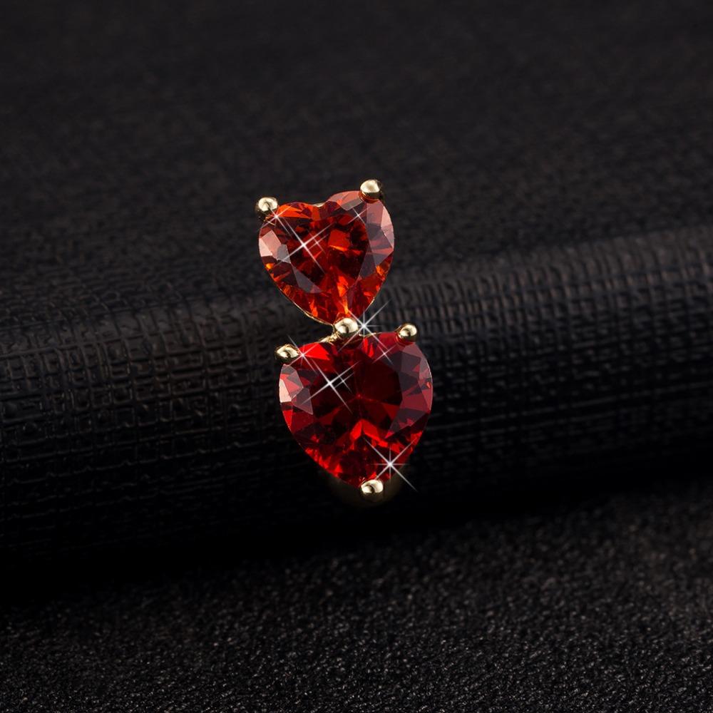HTB1vwfuRpXXXXaHXFXXq6xXFXXXQ Big Double Hearts Zircon Gem Navel Ring - 4 Colors