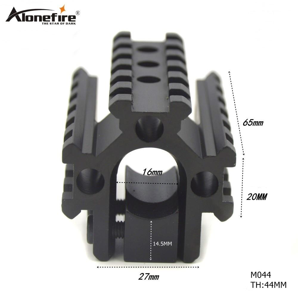AloneFire M044 vadászpuska-skála háromcsöves hordón, 20 mm-es hordónál, Picatinny Weaver sínre szerelhető alap