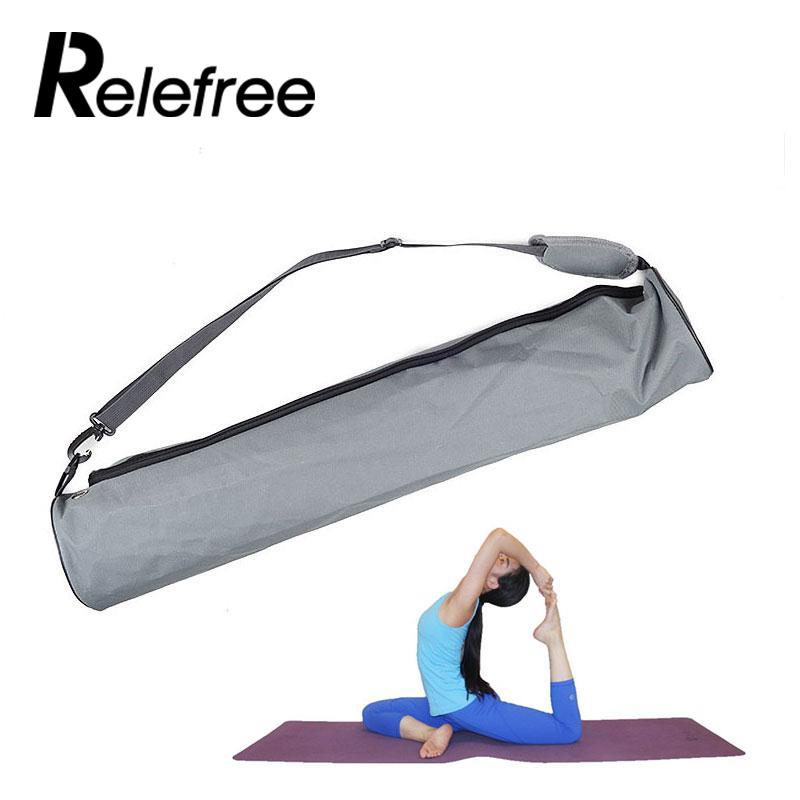 Relefree 13 13 73cm Yoga Mat Bag Canvas Strap Exercise Gym Fitness Pilates Carrier Backpack For Thick Yoga Mat Bag