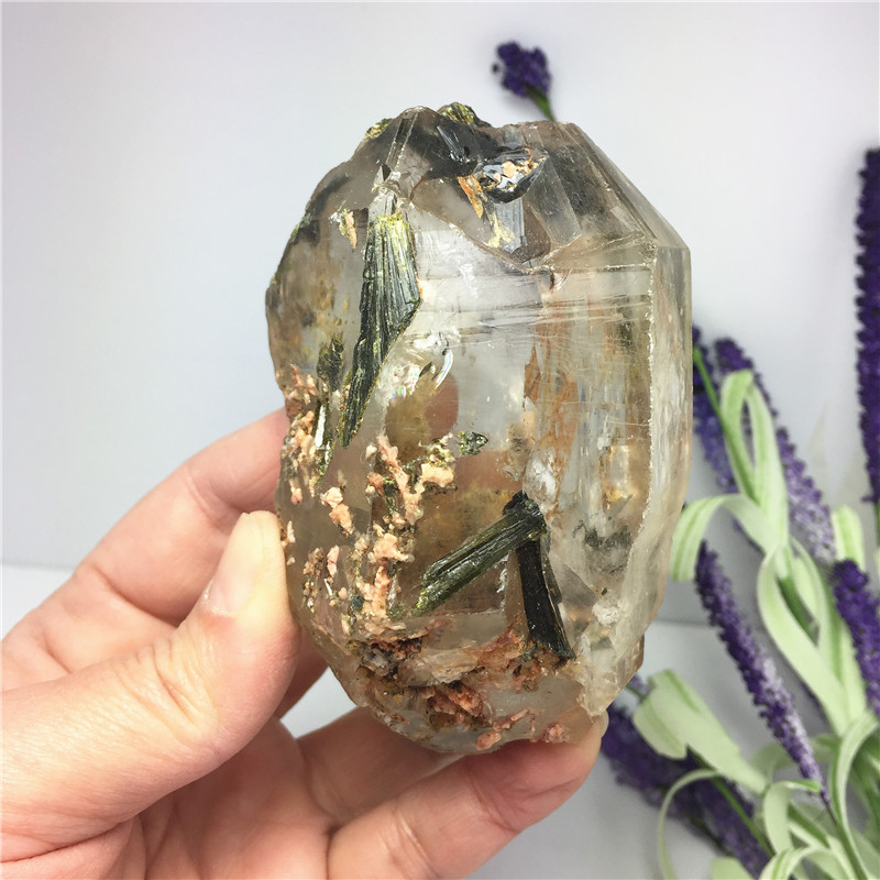 Natural Dendritic Quartz Crystal Stone Mineral Specimen Wand Point Crystal Tower Healing Home Decoration Collection