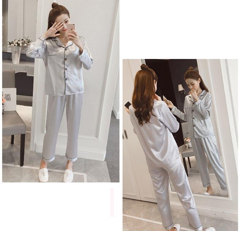 Silk Satin Pyjamas Set 20
