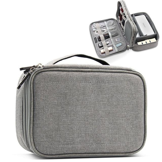 Bolsa de almacenamiento Digital multifunción Cable de datos USB vacío Cable auricular banco de alimentación HDD organizador portátil bolsa de viaje