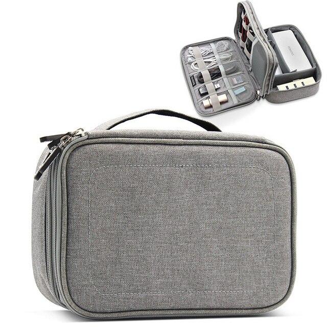 多機能デジタル収納袋空の Usb データケーブルイヤホンワイヤー電源銀行 HDD オーガナイザーポータブル旅行キットケースポーチ