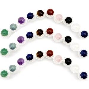 Image 2 - 50 stücke Natürliche Edelstein Roller Ball Fit 5ml 10ml Dicken Glas Ätherisches Öl Rolle Auf Flaschen