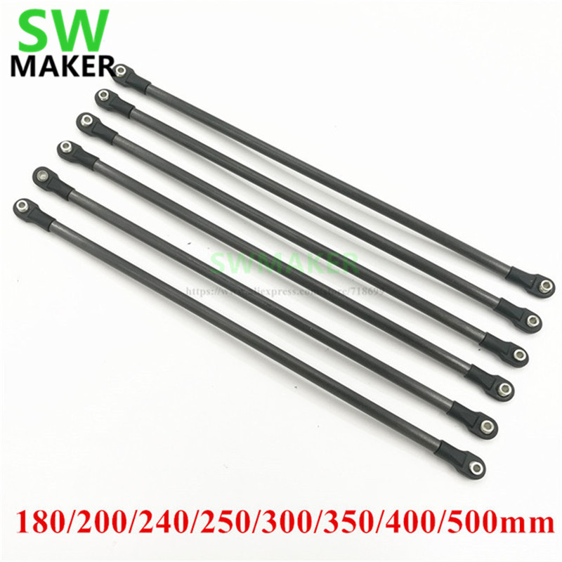 SWMAKER 180mm-500mm Karbon Tube Diagonal Push Rod Arm + 5347 M4 Rod End Bearing Kit For Rostock Delta Kossel/TEVO 3D Printer