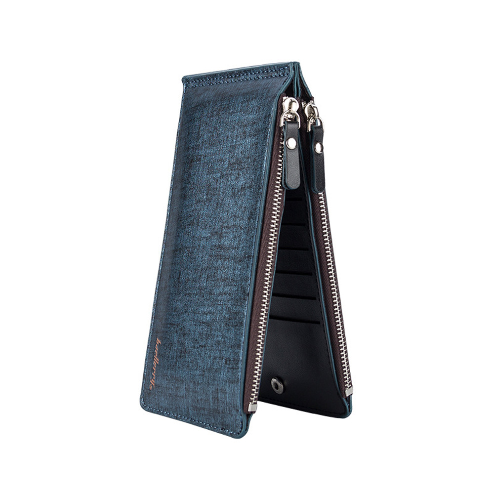 Man long Card Holder Multi Card Wallet Credit Card Holder Ultra Thin Large Capacity Bank Card Sleeve Money Purse Bag ultra thin colorfulcascading pull out card holder wallet