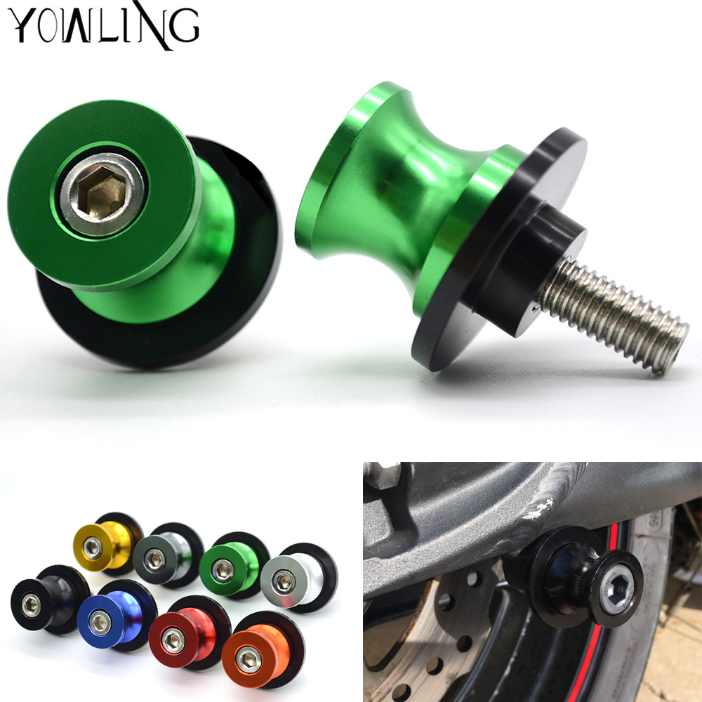 YOWLING New Green CNC M8 Motorcycle Stand Screw Swingarm Spools Slider 8MM Fit For KAWASAKI Z650 Z 650 Year 2017 High Quality z900 fashion 8mm stand screw motorcycle swingarm sliders spools for kawasaki z900 2017 sawing arm motocross accessories screw