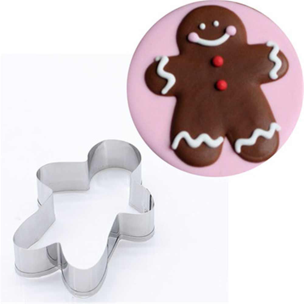 Us 0 99 49 Off Amw Hot Sale Forma De Bolo Kitchen Accessories Gingerbread Man Shaped Cookie Cutter Stainless Steel Tools Mold Mj7051 In Cookie