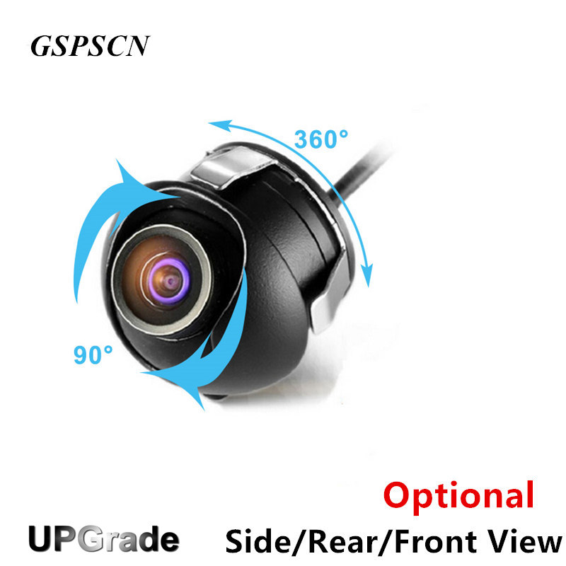 GSPSCN Adjustable Angle Backup Camera 360 Degree Rotation CCD HD Night Vision Side/Front/Rear View Optional Reverse Camera