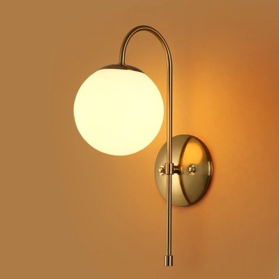Nordic Modern LED Wall Lamp Glass Ball Bathroom Mirror Beside American Retro Wall Light Sconce Wandlamp Aplique Murale ikvvt nordic modern led wall lamp glass ball bathroom mirror bedside american retro wall light sconce wandlamp aplique murale
