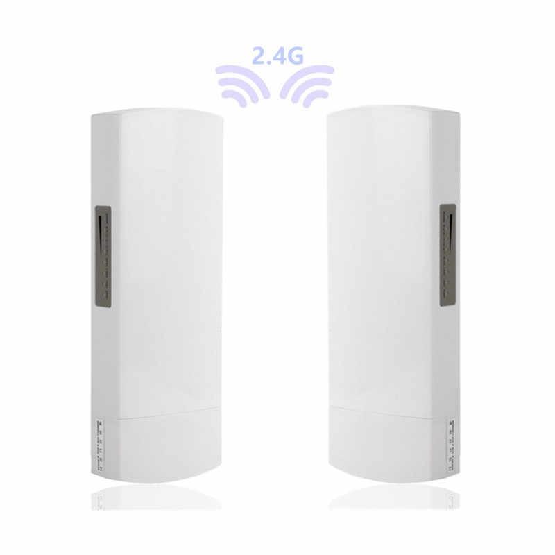 Exterior 2 piezas 1-3 km 300 Mbit enrutador abierto CPE 2,4G inalámbrico Punto de Acceso puente Wi-Fi dispositivo wifi extensor doble banda
