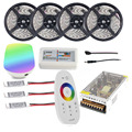 Wifi 20m LED Strip Kit Mi light RGBW RGB 5050 2835 tiras Waterproof + RF Remote Controller + Amplifier + Power adapter Free ship