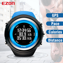 Top Brand EZON T031 Rechargeable GPS Timing Watch Running Fitness Sports Watches Calories Counter Distance Pace 50M Waterproof