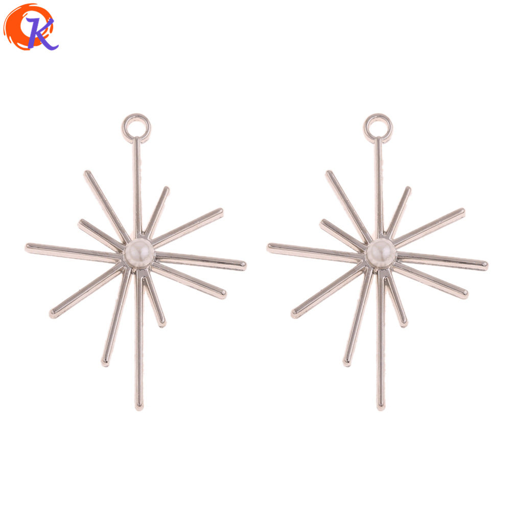 Cordial Design 50Pcs 31*43MM Jewelry Accessories/Earrings Connectors/Star Shape/Hand Made/DIY Jewelry Making/Earring Findings