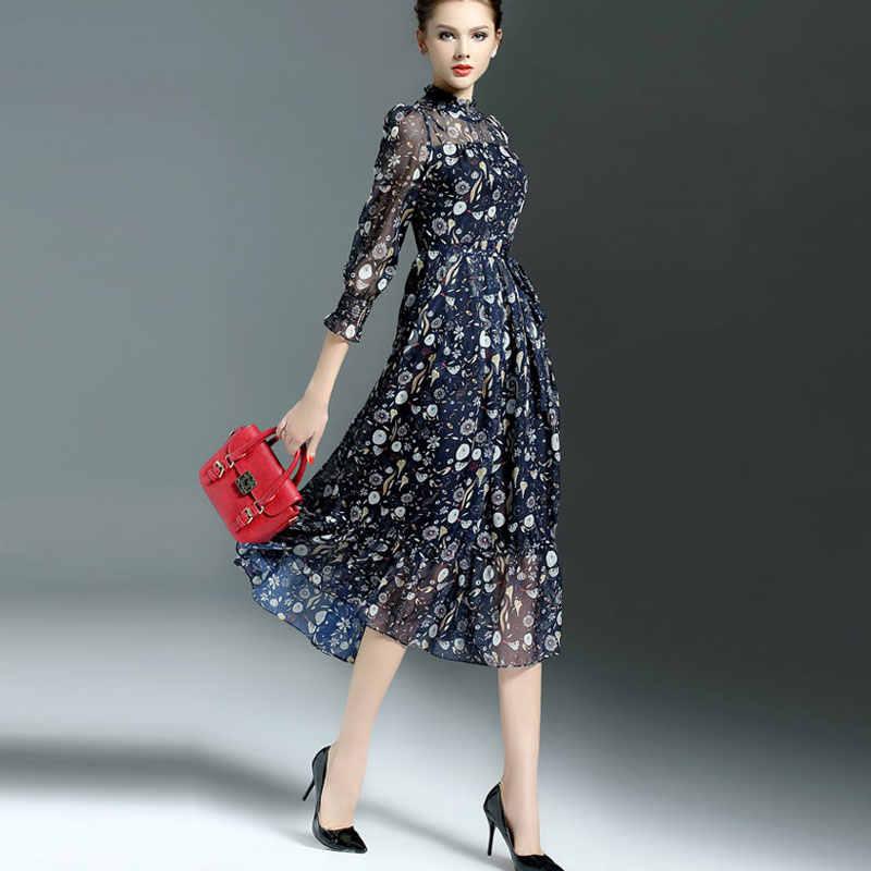 0f4f4e7dab5b ... Volocean 2019 Maxi Dress For Women Sweet Ball Dresses Gown Flower Print  Dresses Women Slim Elegent ...
