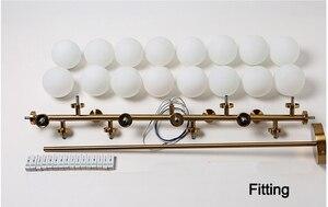 Image 4 - Plafonnier suspendu composé de bulles de verre, design moderne, produit de luxe, éclairage décoratif dintérieur, luminaire décoratif de plafond, idéal pour un salon ou un salon, LED
