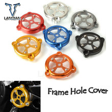 CNC Aluminum Motorcycle Front Drive Shaft Cover Frame Hole Cover for Yamaha TMAX530 TMAX 530 2012 2013 2014 2015 2016