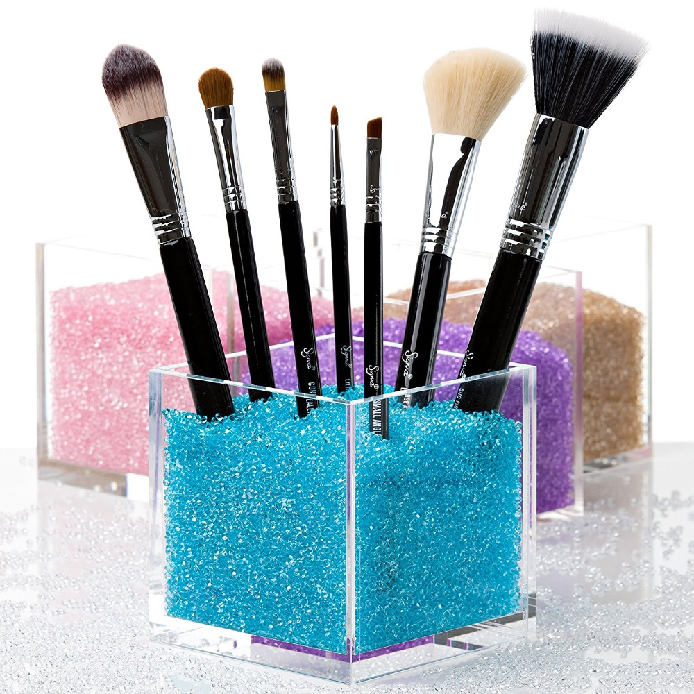 makeup brush holder beads. acrylic square make up box ,plexiglass makeup brush holder countertop cosmetic organizer with crystal stones beads -in underwear from mother \u0026 kids on