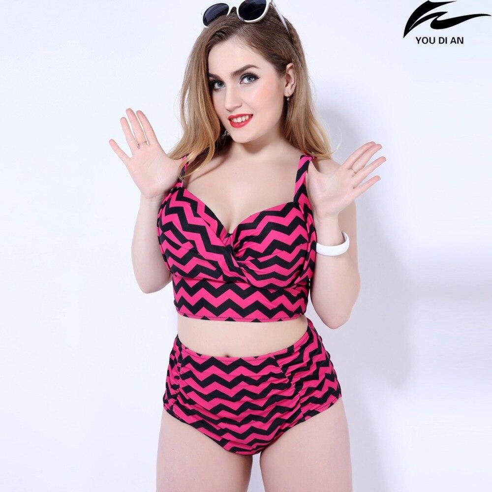 new high wait bikini women large size swimwear plus size swimming suit swimsuit beach wear swim suit