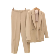 цена Set women's fashion small suit 2019 new casual temperament spring and autumn OL small suit jacket pants two-piece